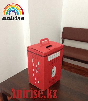 Контейнер картонный для сбора медицинских отходов на 10 л класс В, фото 2