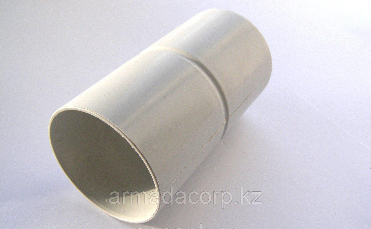 Соединитель трубы INES белого цвета 80 мм