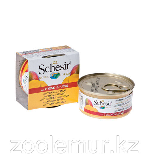 Schesir консервы для кошек (с тунцом, манго и рисом) 75 гр.