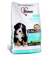 1st Choice Puppy сухой корм для щенков средних и крупных пород (с курицей) 15 кг., фото 1