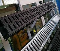 Поверхностный водоотвод. Канал с пластиковой решеткой 125х80х1000мм Steelot (Стилот) Whats Upp. 87075705151, фото 1