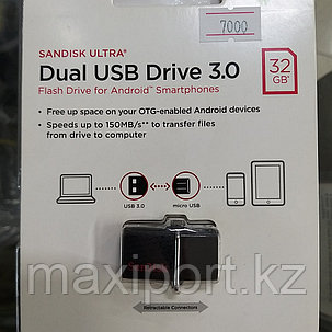 Sandisk  ULTRA 32gb Dual USB Drive 3.0, фото 2