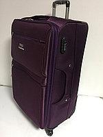 Большой дорожный чемодан на 4-х колесах Polo Collection.Ткань.Высота 77 см,длина 42 см, ширина 26 см.