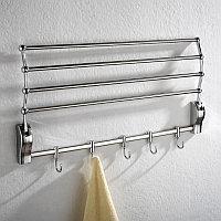 Ванная полка для полотенец и халатов (серебро)