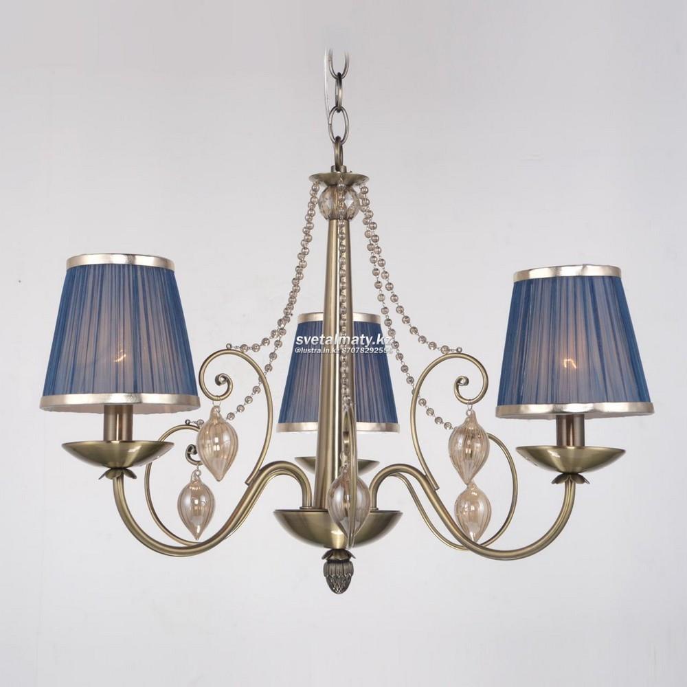 Классическая люстра на 3 лампы Античная бронза