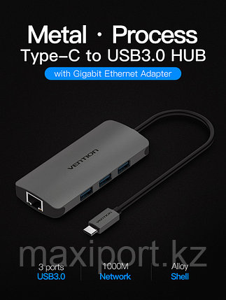 Vention Type-C to 3 Ports USB3.0 HUB, фото 2