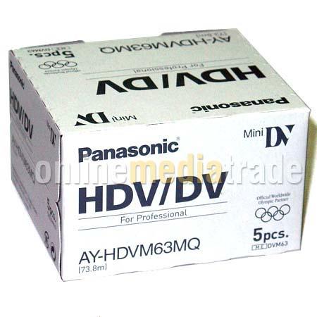 Кассеты miniDV HDV DVC PANASONIC AY-HDVM63MQ 1080p