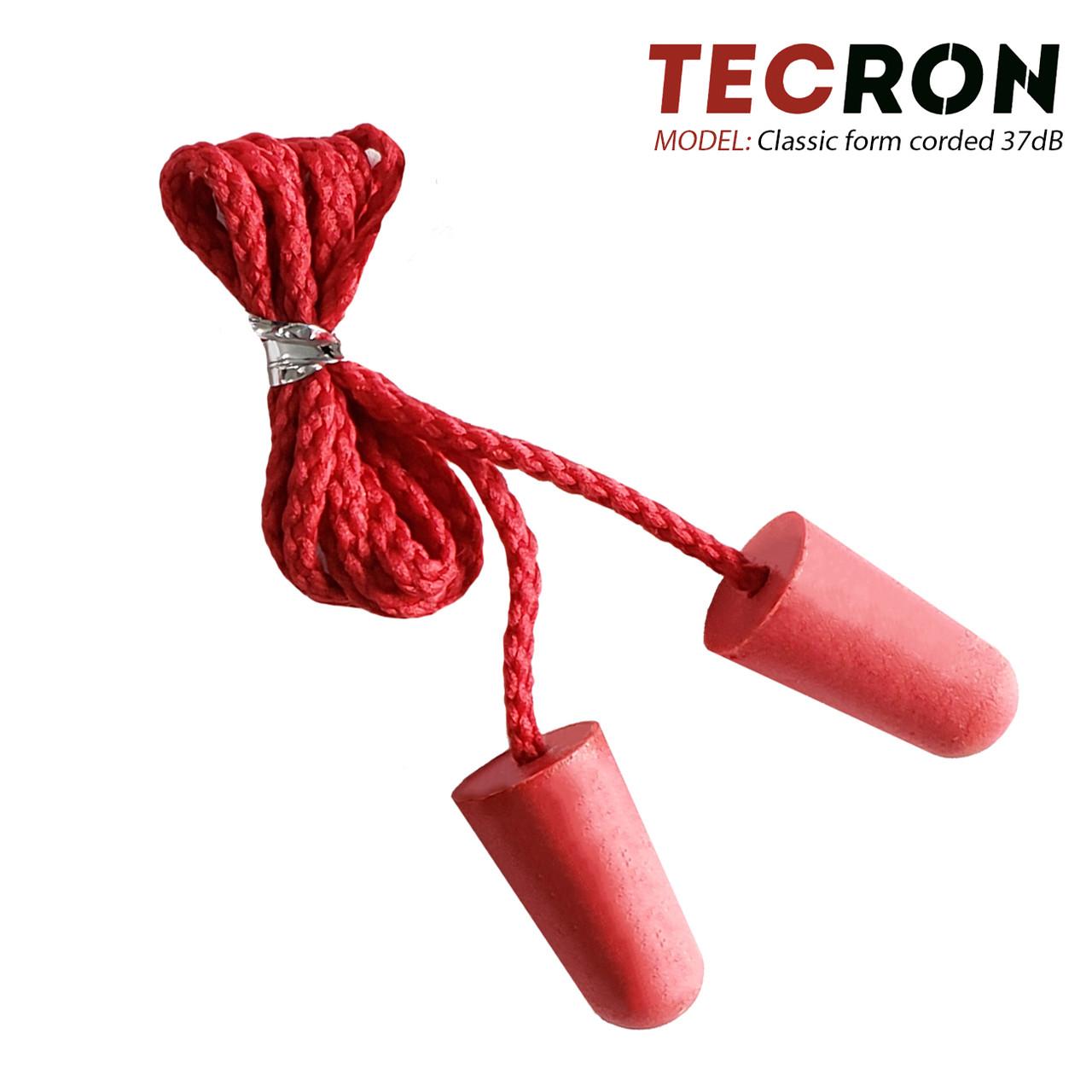 Беруши противошумные со шнурком TECRON Classic form corded 37dB