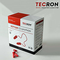 Беруши противошумные со шнурком TECRON Classic form corded 37dB, фото 3