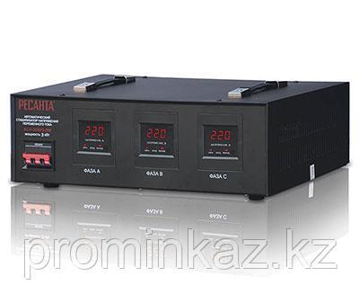 Стабилизатор напряжения РЕСАНТА АСН-4500/3-ЭМ  -4.5кВт