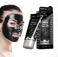 Маска-пленка для носа Charcoal Black Head Peel-Off Nose Pack 60 g.(Farm Stay)