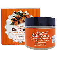 Крем для лица Jigott Argan Oil Extract Cream 70 ml.
