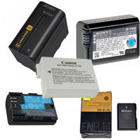 Фото и Видео Батареи Аккумуляторы Canon Nikon Sony Panasonic JVC Samsung Olympus и прочие