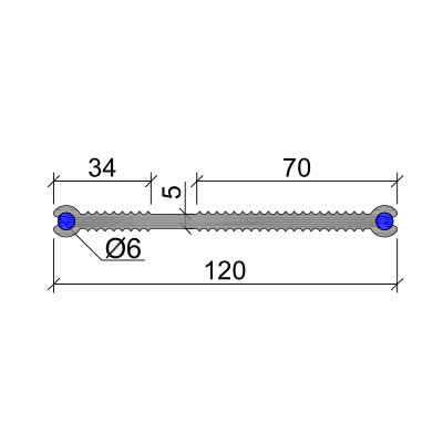 Гидрошпонка ХВН-120 (2хØ6) ПВХ-П