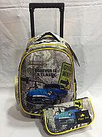Школьный рюкзак на колесах для мальчика 0-1-й класс .Высота 42см, длина 24 см, ширина 17 см.., фото 1