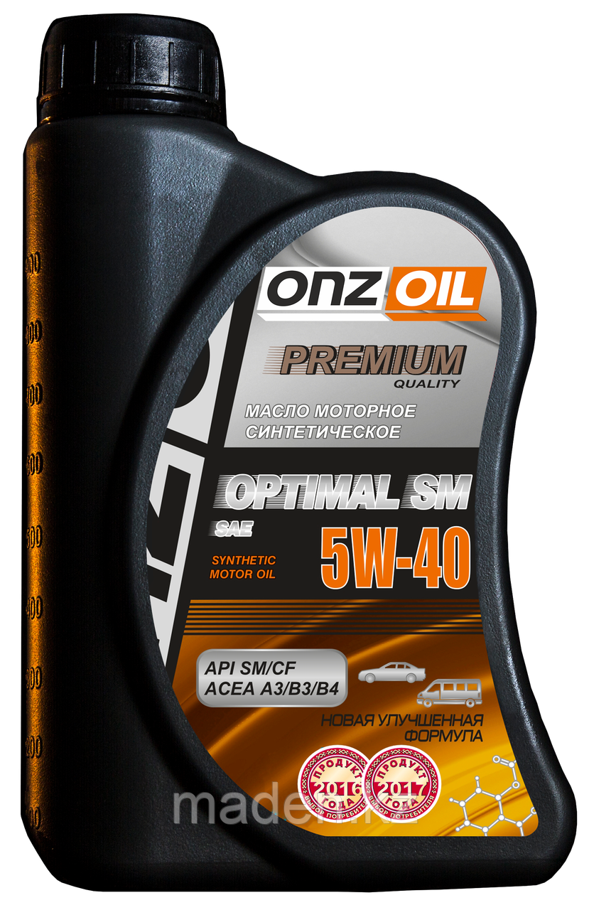 Моторное масло ONZOIL 5W40 SM/CF