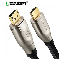 Кабель HDMI 1M, V2.0, Silver Metal ( 2K*4K, 60HZ) UGREEN