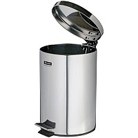 Ведро-контейнер для мусора OfficeClean Professional, 5 л, нержавеющая сталь, хром, фото 1
