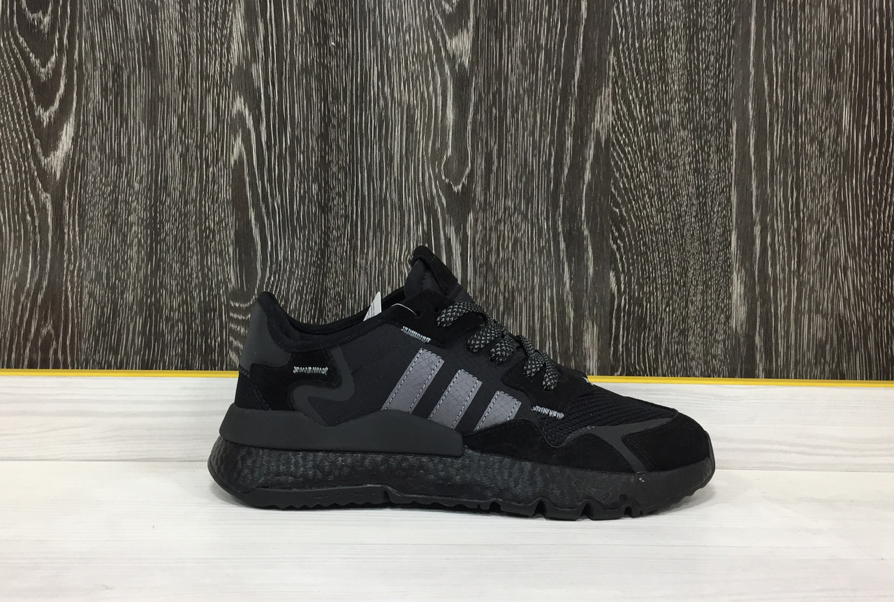 Кроссовки Adidas Nite Jogger (All Black)