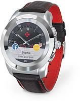 Смарт-часы MyKronoz ZeTime Premium, Regular, Polished Silver/Black Carbon Red Stitching