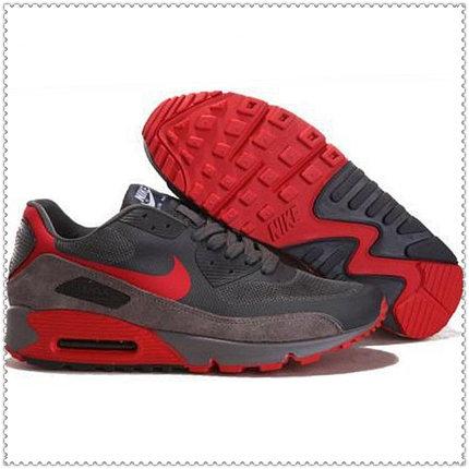 Кроссовки Nike Air Max 90 Hyperfuse серо-красные, фото 2