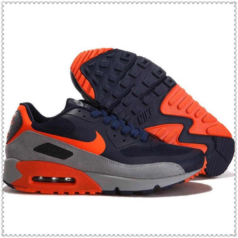 Кроссовки Nike Air Max 90 Hyperfuse PRM серо-черные