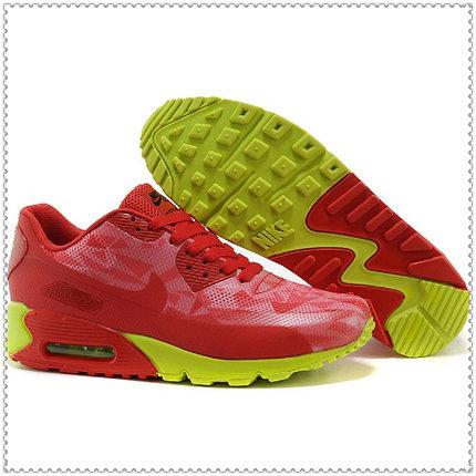 Кроссовки Nike Air Max 90 Hyperfuse красно-зеленые, фото 2