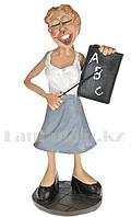 Сувенирная Фигурка Учительница с доской и указкой 14 см