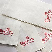 Упаковка фирменных пакетов с прозрачным окном 27х12х8см (в упаковке 100шт, цена указана за упаковку)