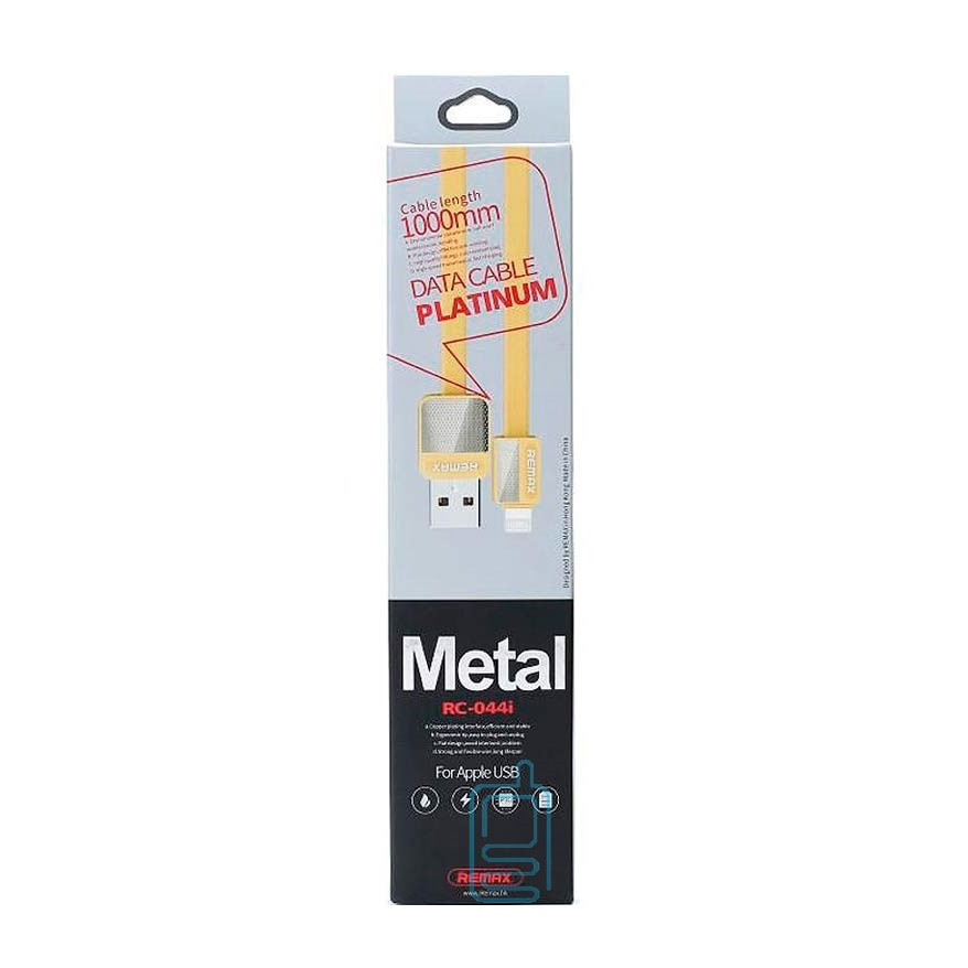 Кабель Remax RC-044i Lightning USB iphone Gold