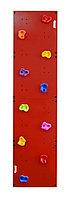 Скалодром пристенный 500*2000 стандарт ЭЛЬБРУС (10 зацепов) красный без отверстий