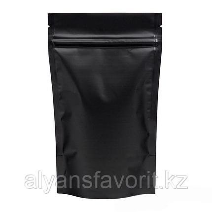 Пакет дой-пак металлизированный чёрный матовый с замком зип-лок (zip-lock), фото 2