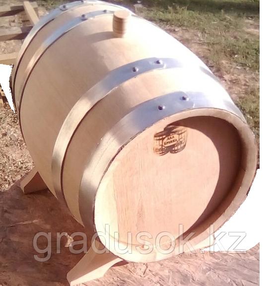 Бочка дубовая 15 литров с краном обжиг сильный