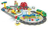 """Конструктор Building Bricks аналог Лего Дупло LEGO DUPLO Набор """"Большой поезд"""" с Мостом 152 деталей., фото 2"""