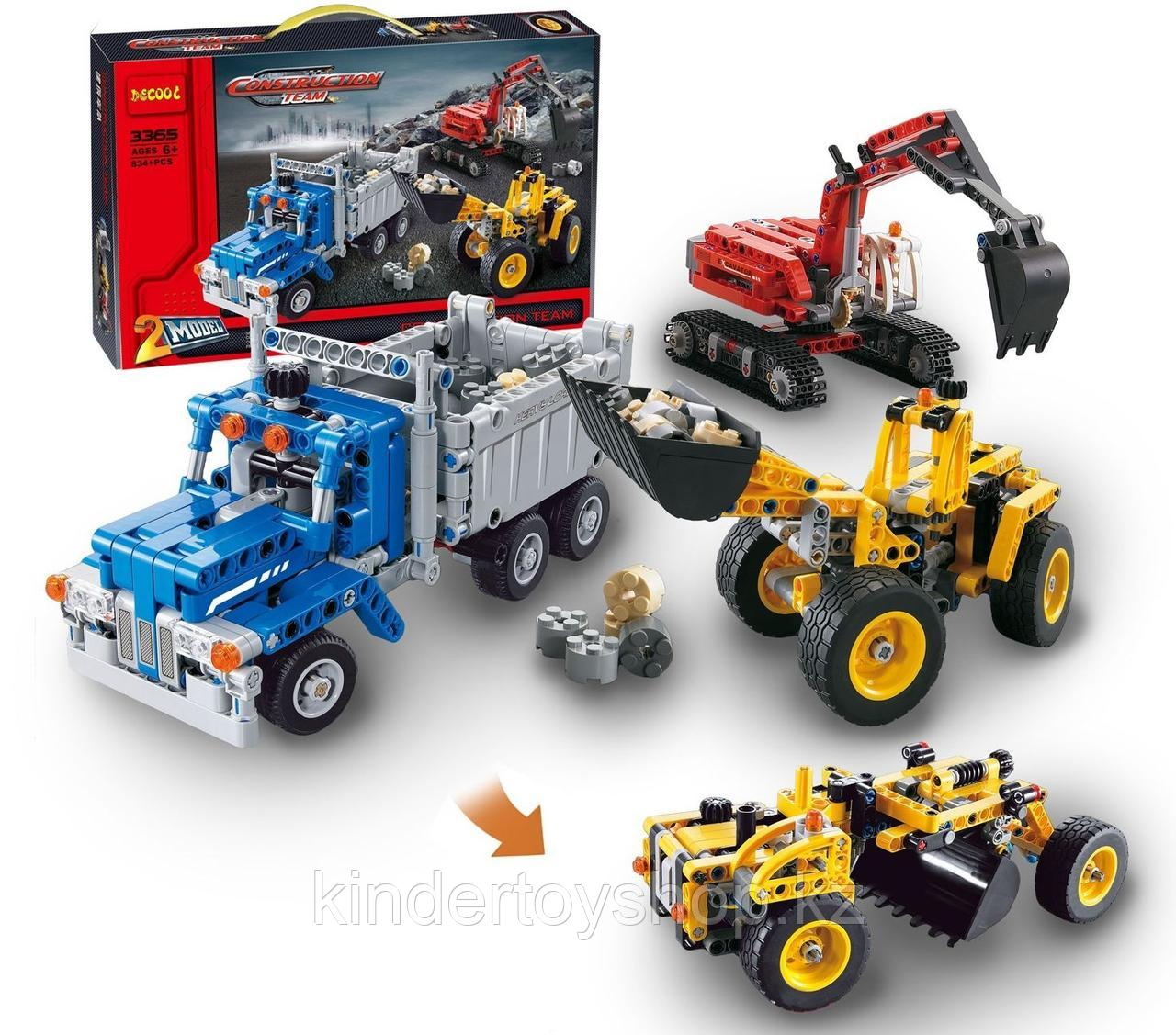 Конструктор Decool Technic Строительная команда 3365 (Аналог LEGO Technic 42023) 834 дет