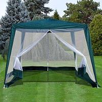 Беседка-шатёр садовая с антимоскитной сеткой «Комфорт» [3х3х2.4 м]
