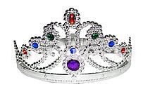 Детская корона серебряная с разноцветными камнями