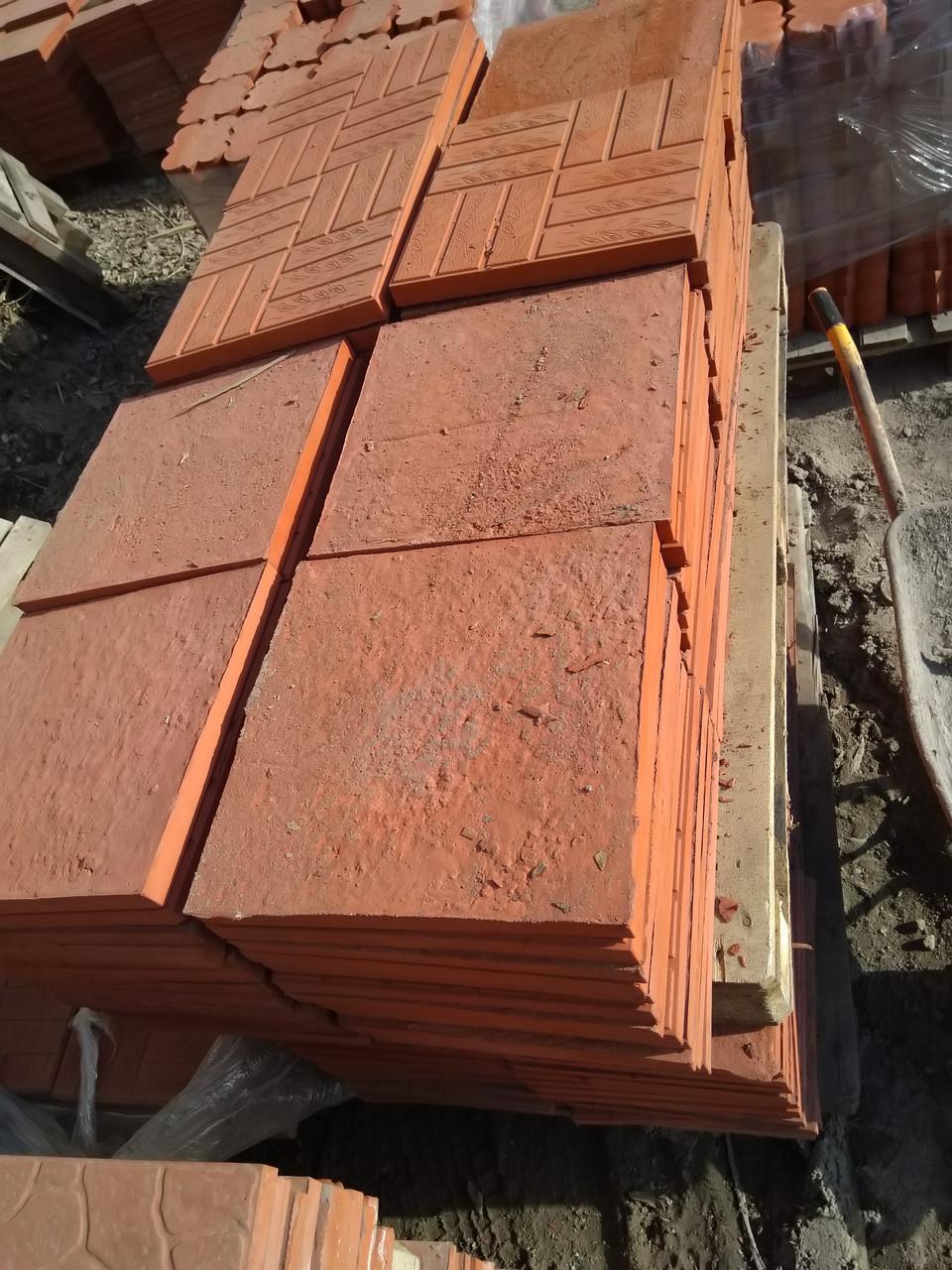 """Брусчатка и тротуарная плитка """"Паркет"""" 330x330x30 Красный"""