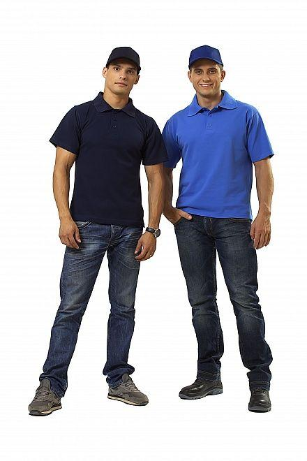 Сорочка с воротником «Поло» синяя