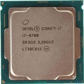 CPU Intel Core i7 8700 3,2GHz 12Mb 6/12 Core Coffe Lake Tray 65W FCLGA1151, фото 2
