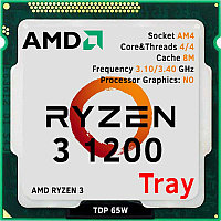 AMD RYZEN 3 1200 tray