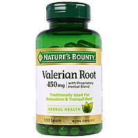 Nature's Bounty, Корень валерианы с фирменной смесью трав, 450 мг, 100 капсул., фото 1
