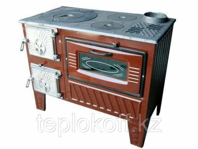 Чугунная отопительно-варочная печь с духовкой Мастерпечь ПВ-03
