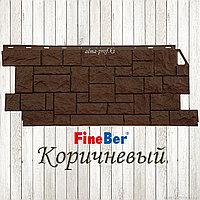 """Фасадная панель Fine Ber """"Камень дикий"""" (Коричневый)"""