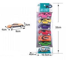 Набор  игрушечных машин 6в1 (ЖМ802-А*)