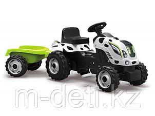 Трактор педальный с прицепом XL, расцветка Коровка 710113 Smoby
