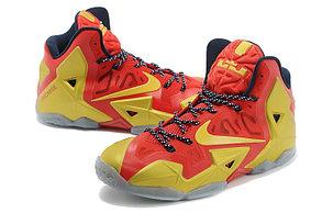 Баскетбольные кроссовки Nike LeBron 11 (XI) Elite красное золото, фото 2