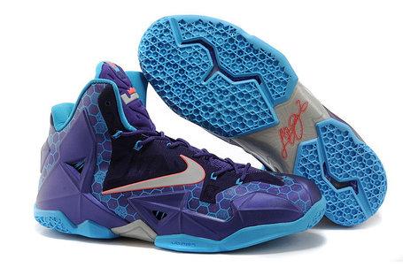 Баскетбольные кроссовки Nike LeBron 11 (XI) Elite Deep Purple, фото 2