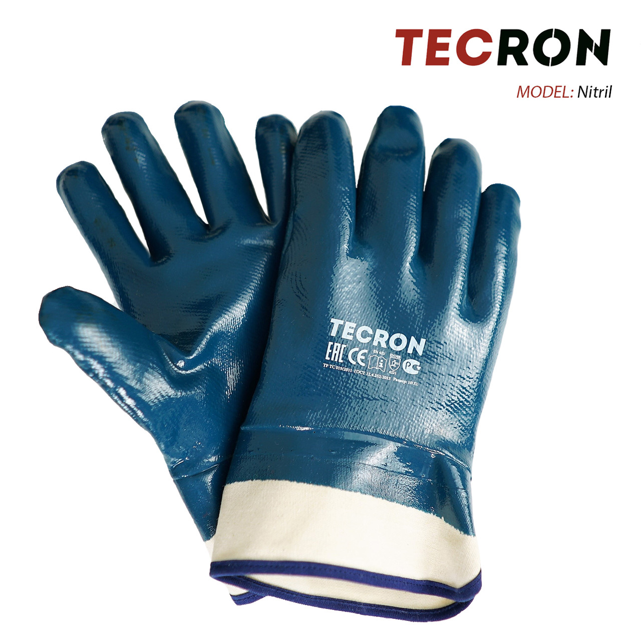Нитриловые перчатки-краги TECRON Nitril