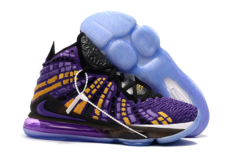 "Баскетбольные кроссовки Nike Lebron 17 (XVII ) ""LA Lakers"" sneakers from LeBron James"